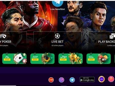 Betting web app
