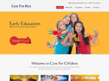 Web Design : Care For Kids