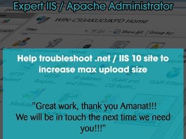 Expert IIS / Apache Administrator