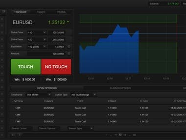 NAX Trader - Binary Options platform