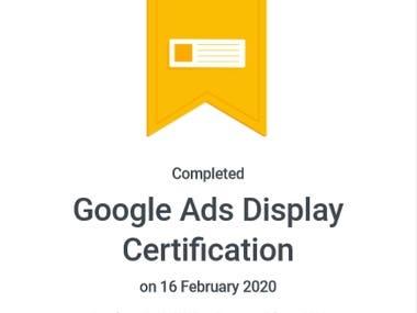 Google Ads Display Certificate