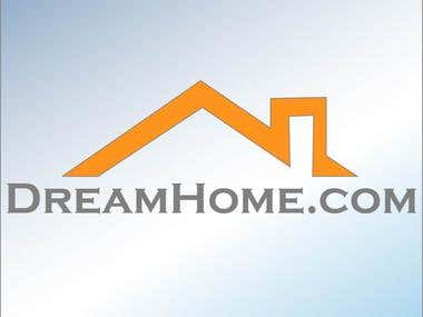 A logo design for dreamhome.com
