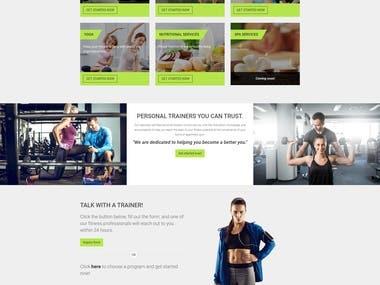 Online Fitness website