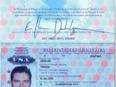 Passports (any country passport and driving licence in PSD)