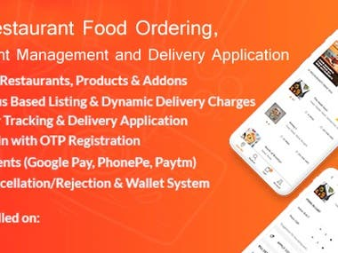 Multi-restaurant Food Ordering, Delivery Application