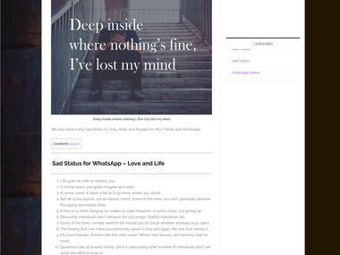 Adsense Website Development - StatusPhobia