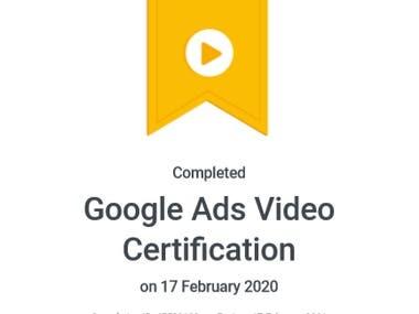 Google Ads Video Certificate