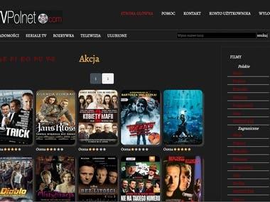 Polnet Polish movies/seasons website