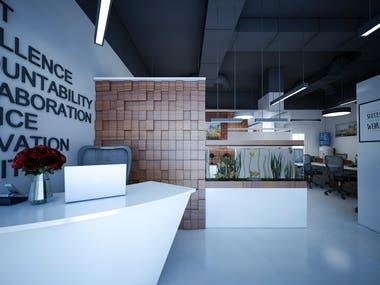 REAL ESTATE OFFICE INTERIOR DESIGN