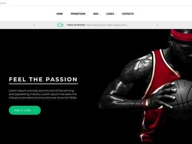 Sport online MVC store
