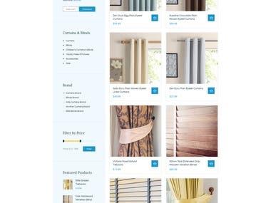 Curtain Order Website