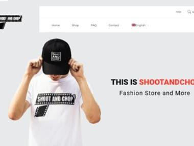 ShootAndChop E-Commerce Site
