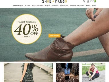 Online Shoes Selling Website Developed with Shopify Tech