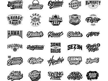 minimal and font logo