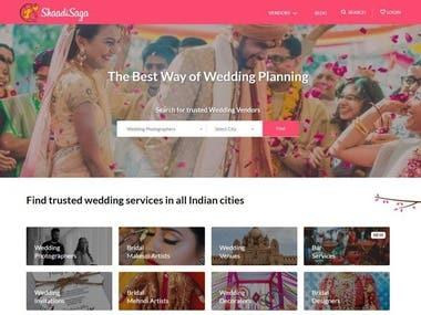 Wedding Site(https://www.shaadisaga.com/)