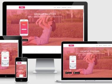 Wordpress Landing Page | famapp.com.au