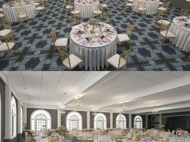 3D VIsual of Wedding Venue