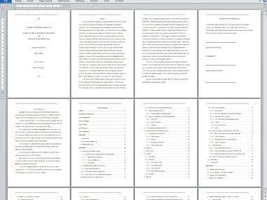 Dissertations formatting
