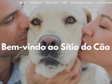 Criação de um website: sitiocao.com