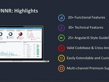 Angular 8 dashboard for B2B system