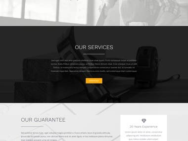 Home services and maintenance website