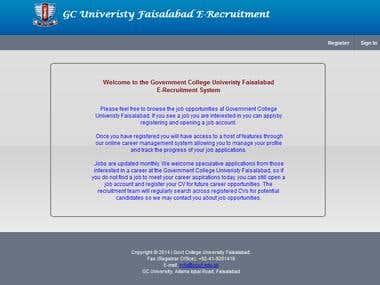 Web Application (Online Job Portal)