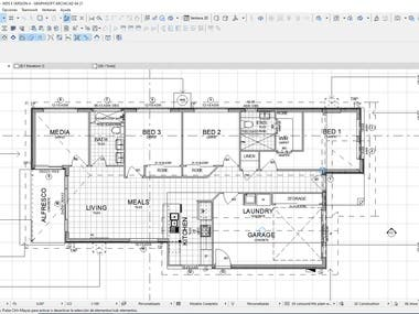 HOUSING PROJECT IN ARCHICAD