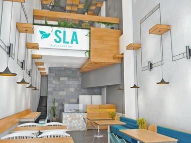 salad bar Interior design- Saudi Arabia