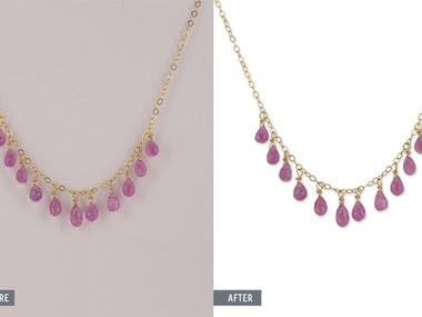 Jewelry color correction and retouching
