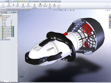 SolidWorks is a solid modeling computer-aided design (CAD)