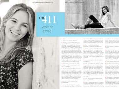 Kate Crabtree Photography Senior Portraits Magazine Design