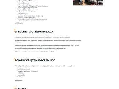 Truck24Serwis - simple website