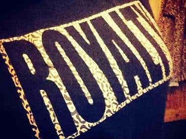 Logo design for hood royalty clothing