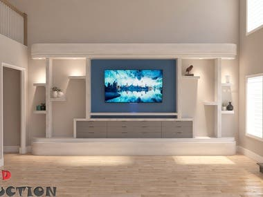 3d Wall unit Renderings