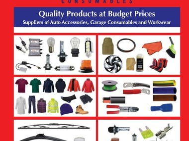 Business Catalogue Designed For An Automotive Products Co