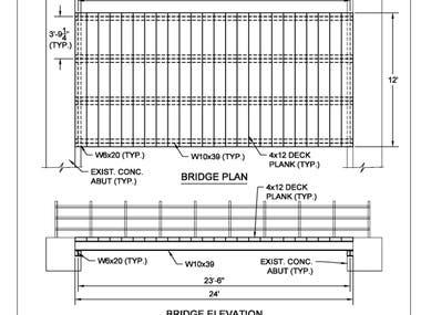 Load Rating of a private Bridge in Napa, California.