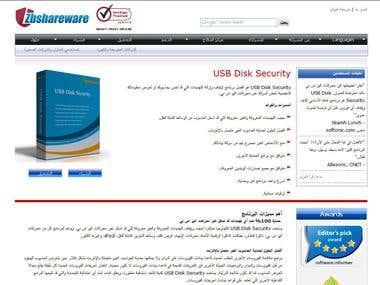 Software Website English to Arabic Translation