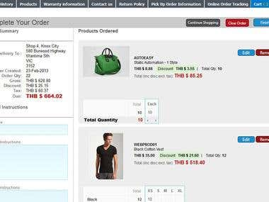 Apparel21 SalesNet for online wholesale ordering