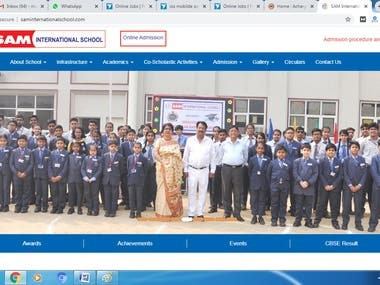 Sam International School Website/Portal