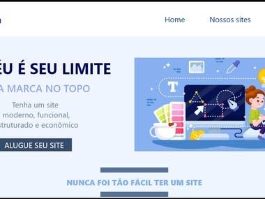"""Cabeçalho do site """"Aluguel de site"""""""
