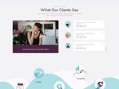 Creative community Website Design template