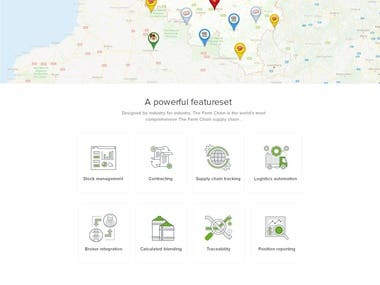 Farm chain management website template design