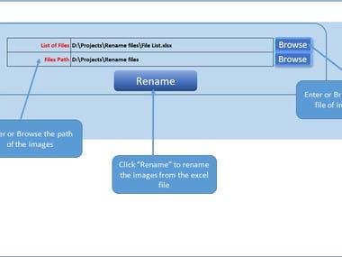 Application - Renaming all files of a folder