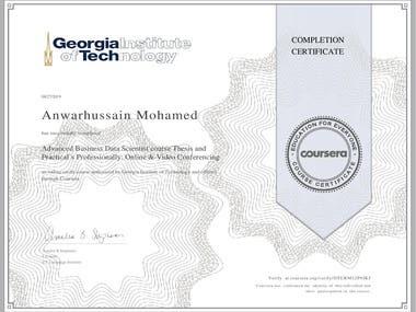 Certified Advanced Business Data Scientist
