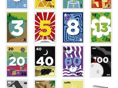 """Ilustraciones para tanda de cartas de """"Estimation Poker"""""""