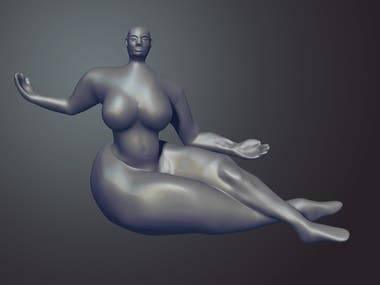 Floating Figure replication exercise for 3d print