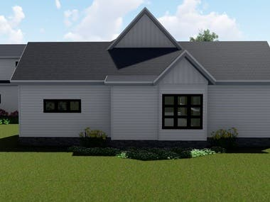 Exterior renders based on CAD plans