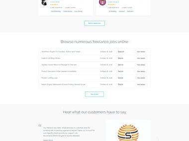 Freelanceengine Theme customization and buildup a site