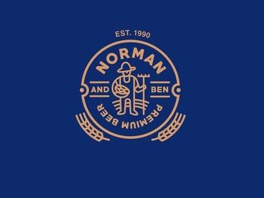 NORMAN AND BEN BEER LOGO