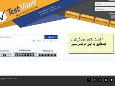 Test Vital web App ( ASP.net language)
